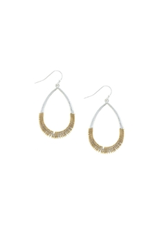 Shoptiques Product: Wired Teardrop Earrings