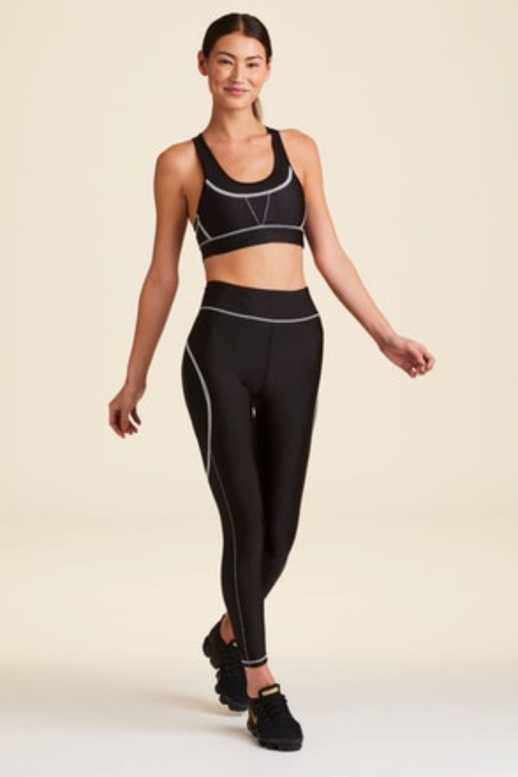ALALA Contrast Stitch Luxe Legging - Front Full Image