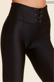 ALALA Alala Lace Up Legging - Front full body