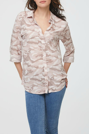 beachlunchlounge Alanna Pink Camo Button Down - Product Mini Image