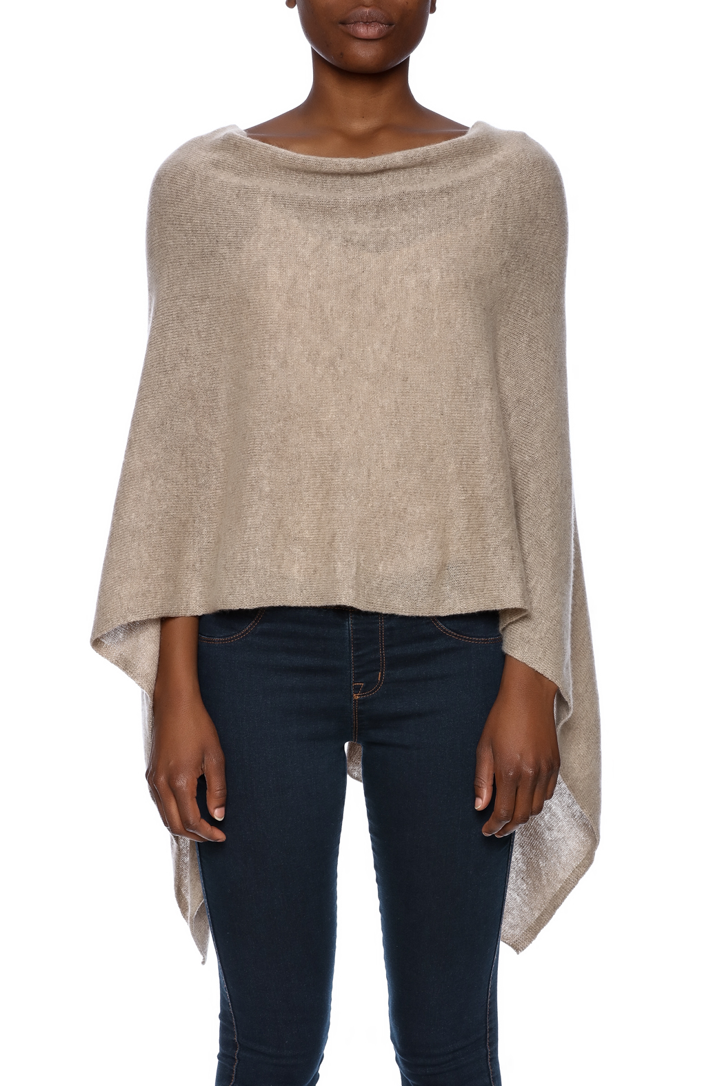 Alashan Cashmere  Cashmere Poncho - Side Cropped Image