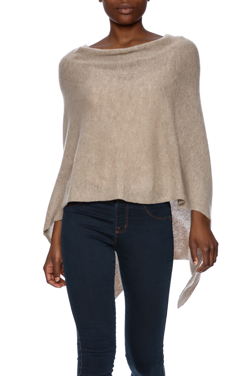 Alashan Cashmere  Cashmere Poncho - Front Cropped Image