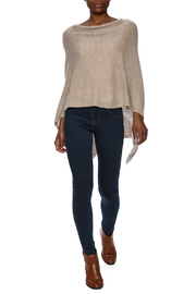 Alashan Cashmere  Cashmere Poncho - Front full body