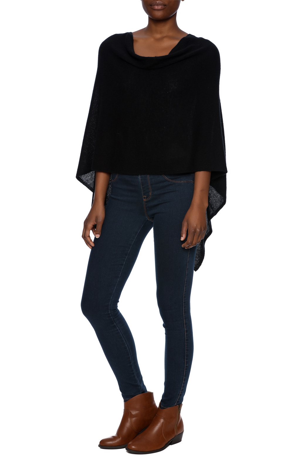 Alashan Cashmere  Cashmere Poncho - Front Full Image