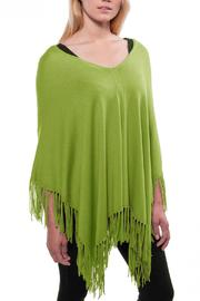 Alashan Cashmere  Fringed Ponch - Front cropped
