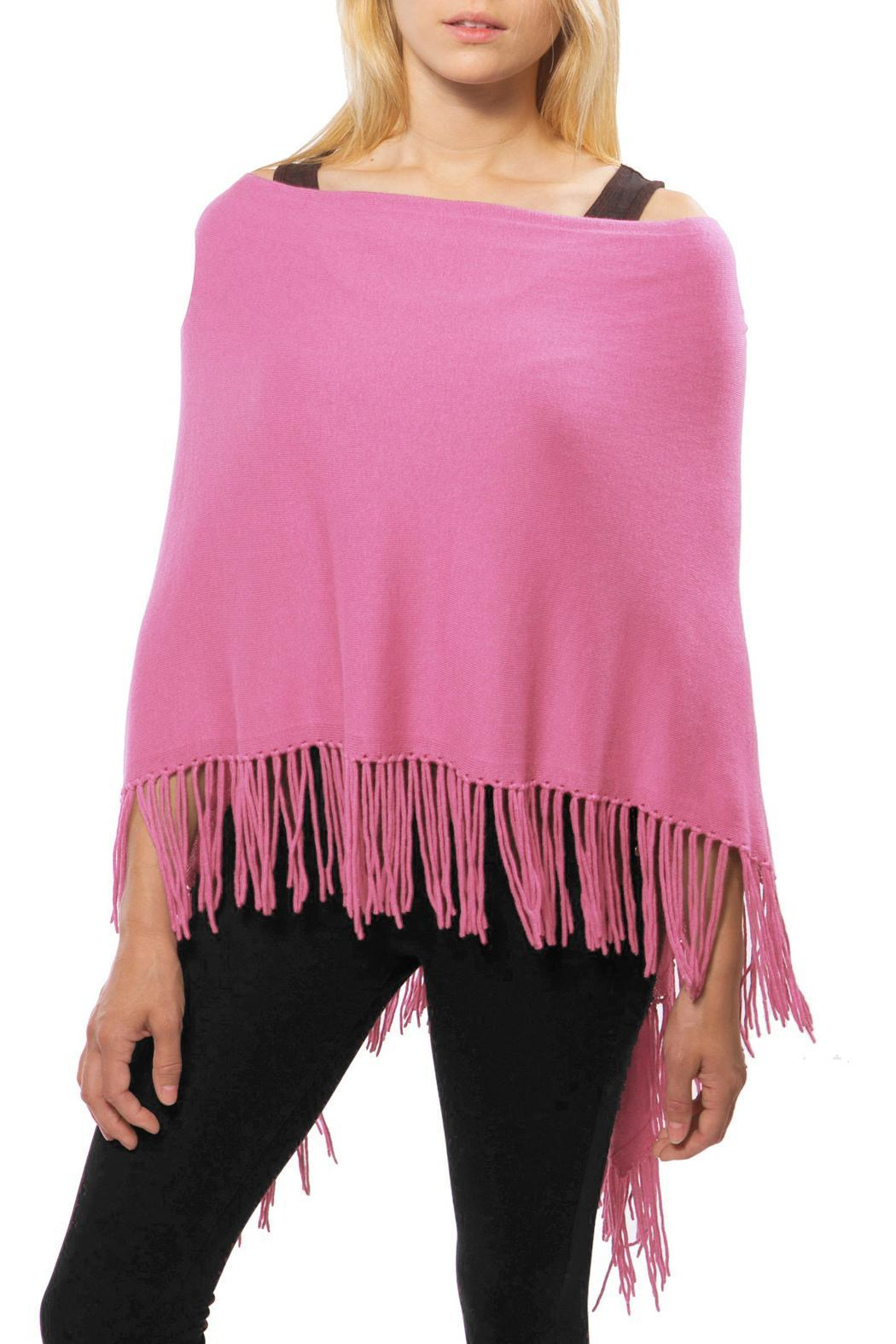 Alashan Cashmere  Fringed Ponch - Front Cropped Image