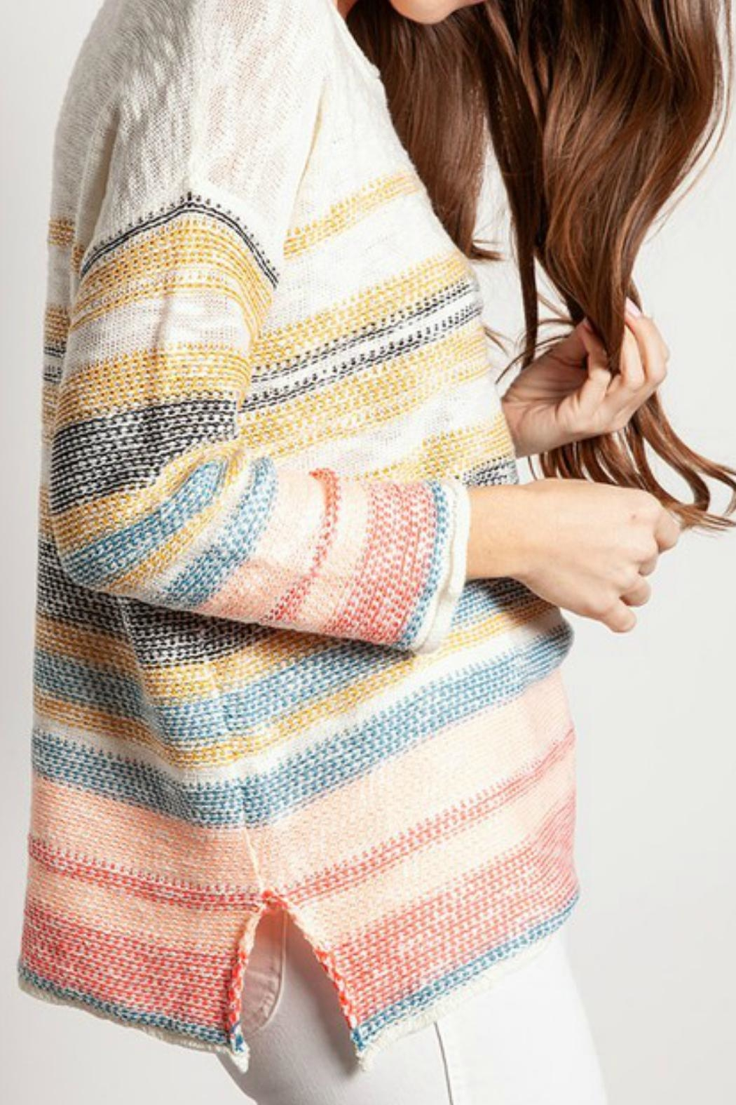 ALB Anchorage Beachy Pastel Sweater - Side Cropped Image