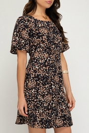 ALB Anchorage Cinched-Pattern Midi Dress - Side cropped