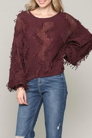 ALB Anchorage Fringe Pullover Sweater - Back cropped