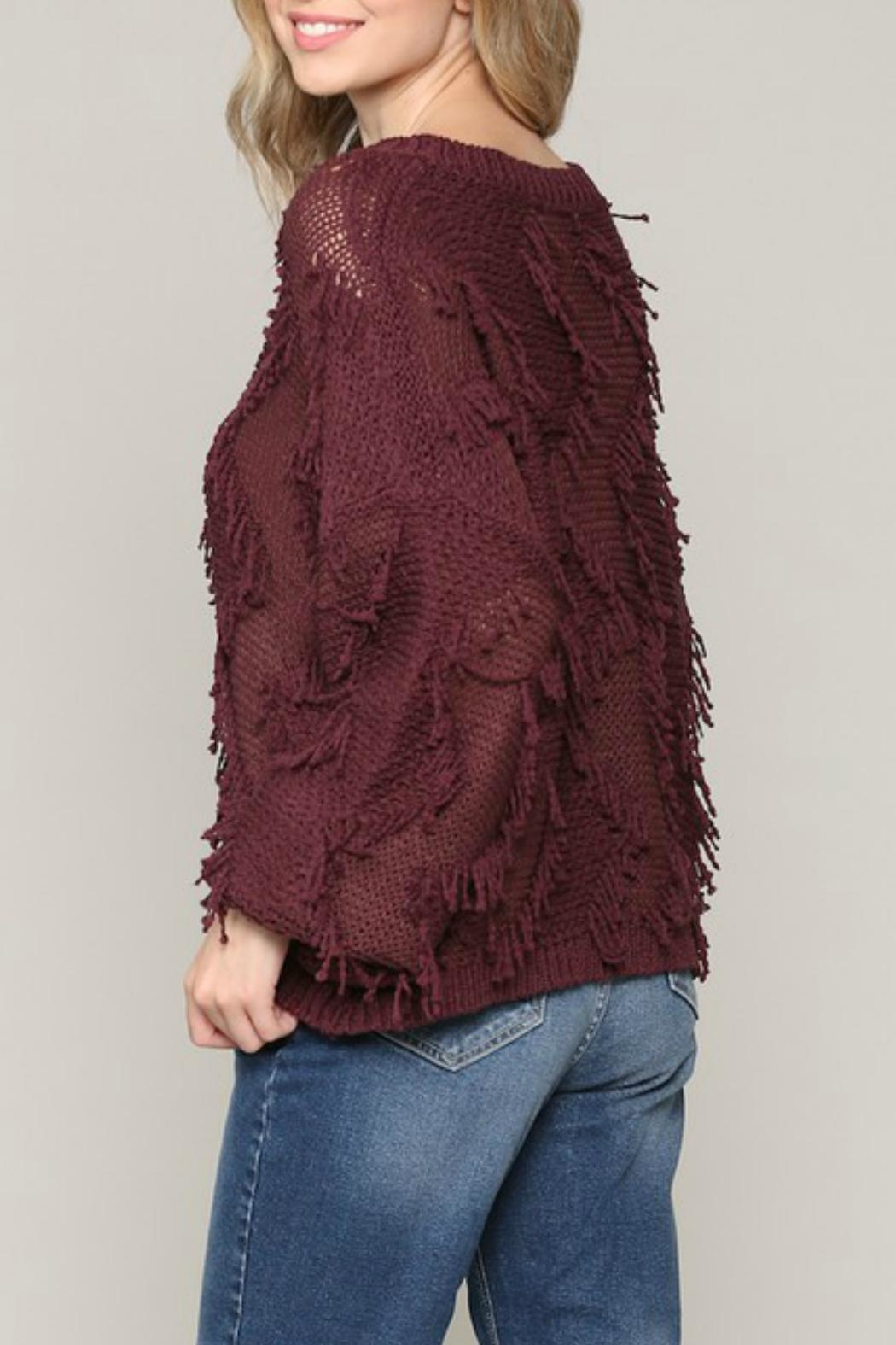 ALB Anchorage Fringe Pullover Sweater - Side Cropped Image