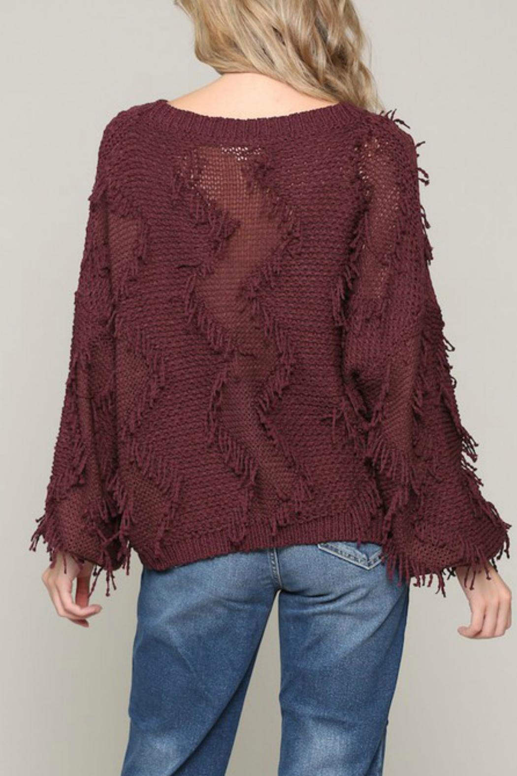 ALB Anchorage Fringe Pullover Sweater - Front Full Image