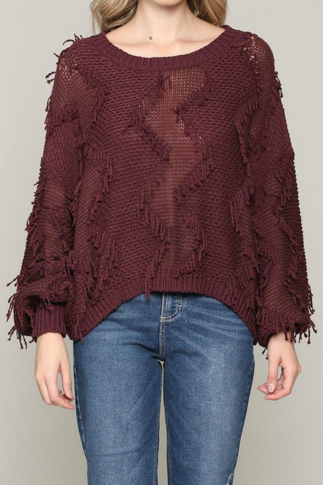 ALB Anchorage Fringe Pullover Sweater - Main Image