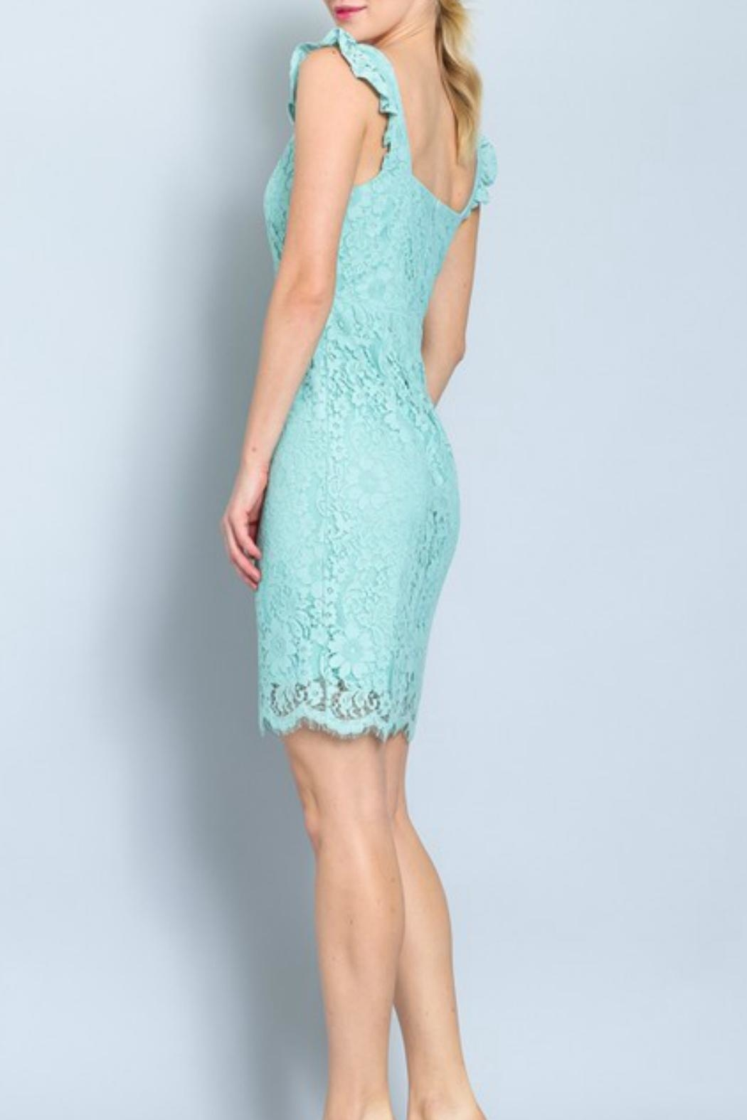 ALB Anchorage Lace Midi Dress - Side Cropped Image