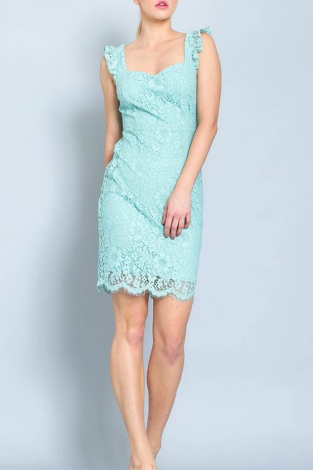ALB Anchorage Lace Midi Dress - Front Cropped Image