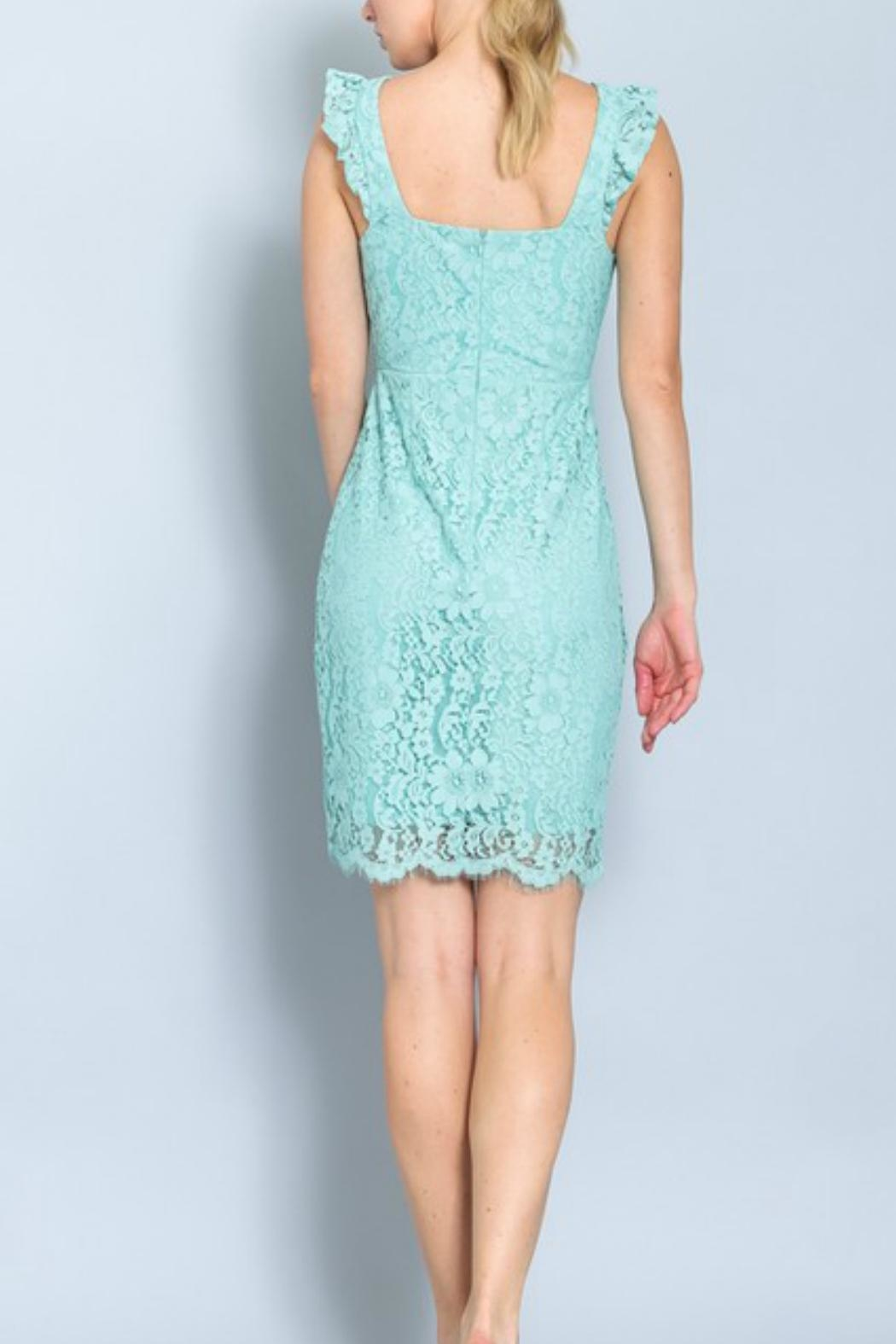 ALB Anchorage Lace Midi Dress - Front Full Image