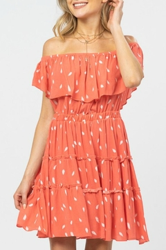 ALB Anchorage Off-Shoulder Ruffle Dress - Product List Image