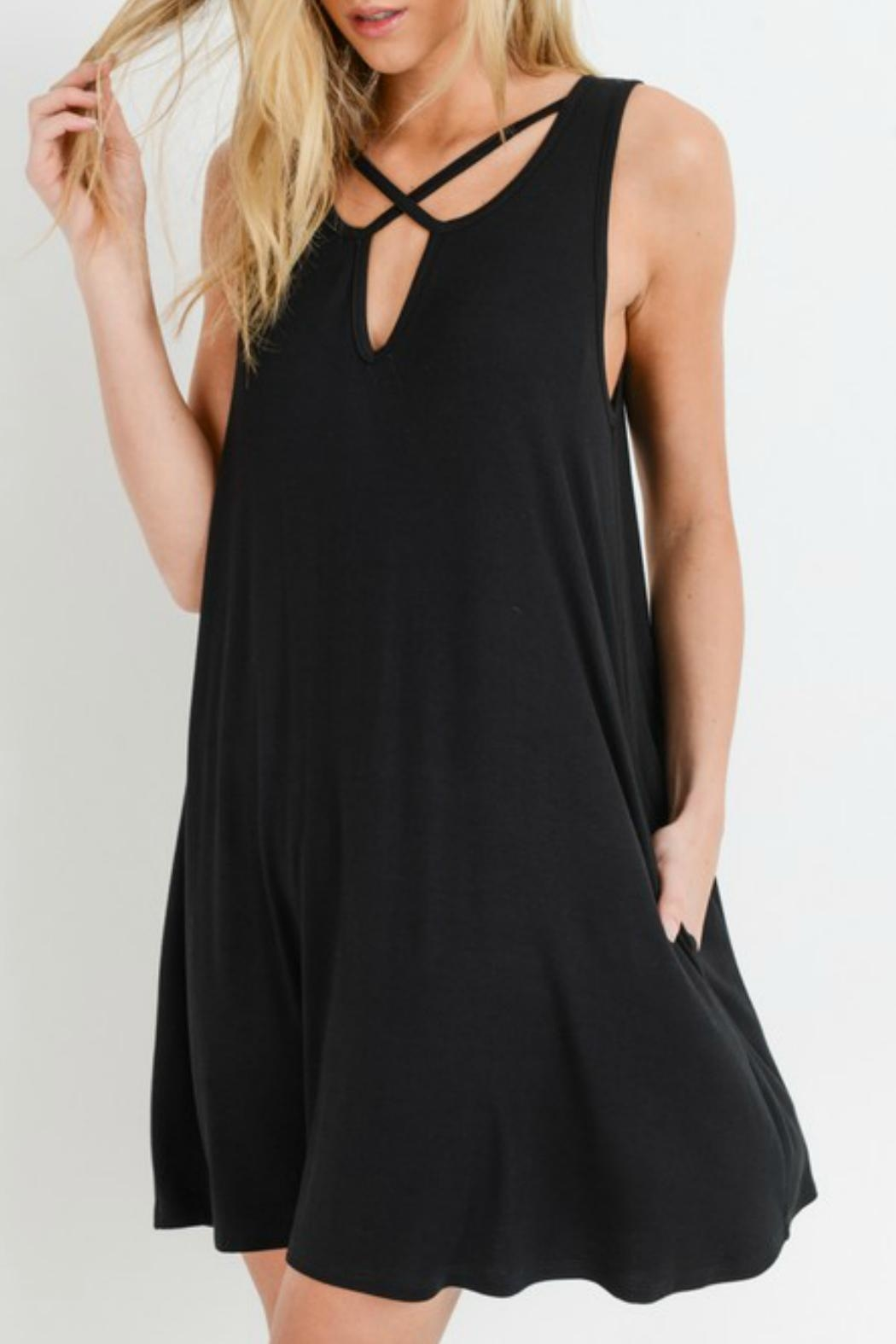 ALB Anchorage Sleeveless Swing Dress - Front Cropped Image