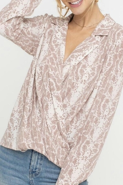 ALB Anchorage Snakeskin Wrap Top - Product List Image