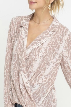 ALB Anchorage Snakeskin Wrap Top - Alternate List Image