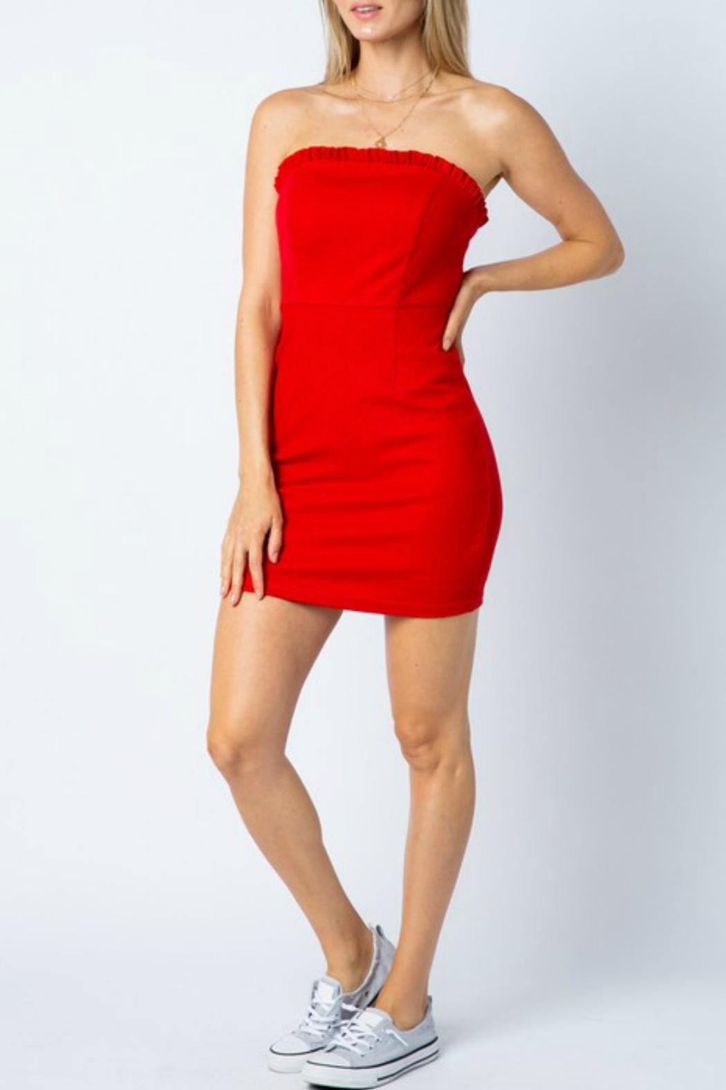 ALB Anchorage Strapless Bodycon Dress - Back Cropped Image