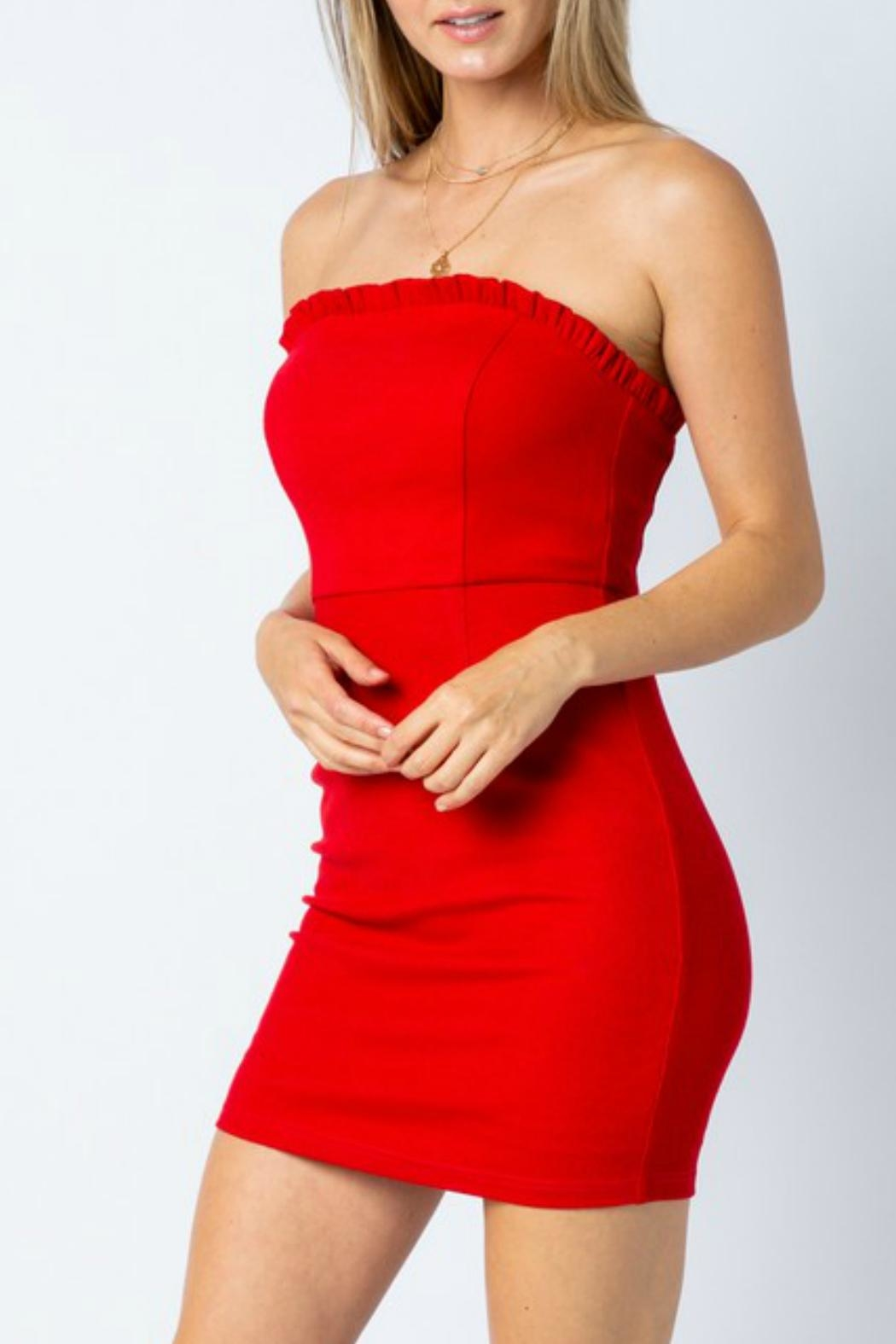 ALB Anchorage Strapless Bodycon Dress - Side Cropped Image
