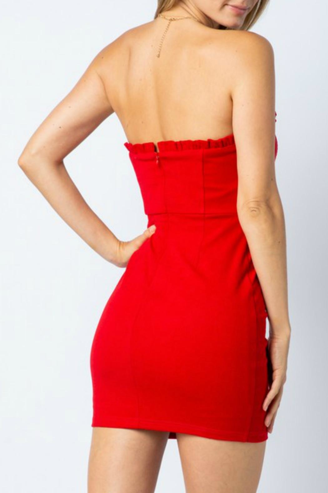 ALB Anchorage Strapless Bodycon Dress - Front Full Image