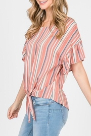 ALB Anchorage Stripe Tie-Front Top - Front full body