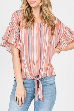 ALB Anchorage Stripe Tie-Front Top - Product List Image