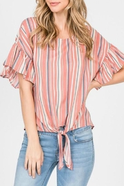ALB Anchorage Stripe Tie-Front Top - Front cropped