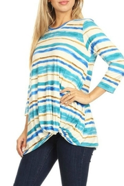 ALB Anchorage Striped Gathered-Hem Top - Product Mini Image