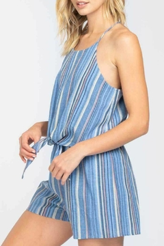 ALB Anchorage Striped Tie Front Romper - Alternate List Image