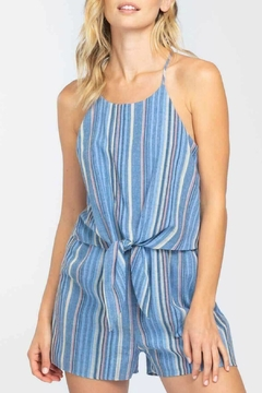 ALB Anchorage Striped Tie Front Romper - Product List Image