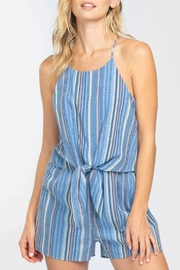 ALB Anchorage Striped Tie Front Romper - Product Mini Image