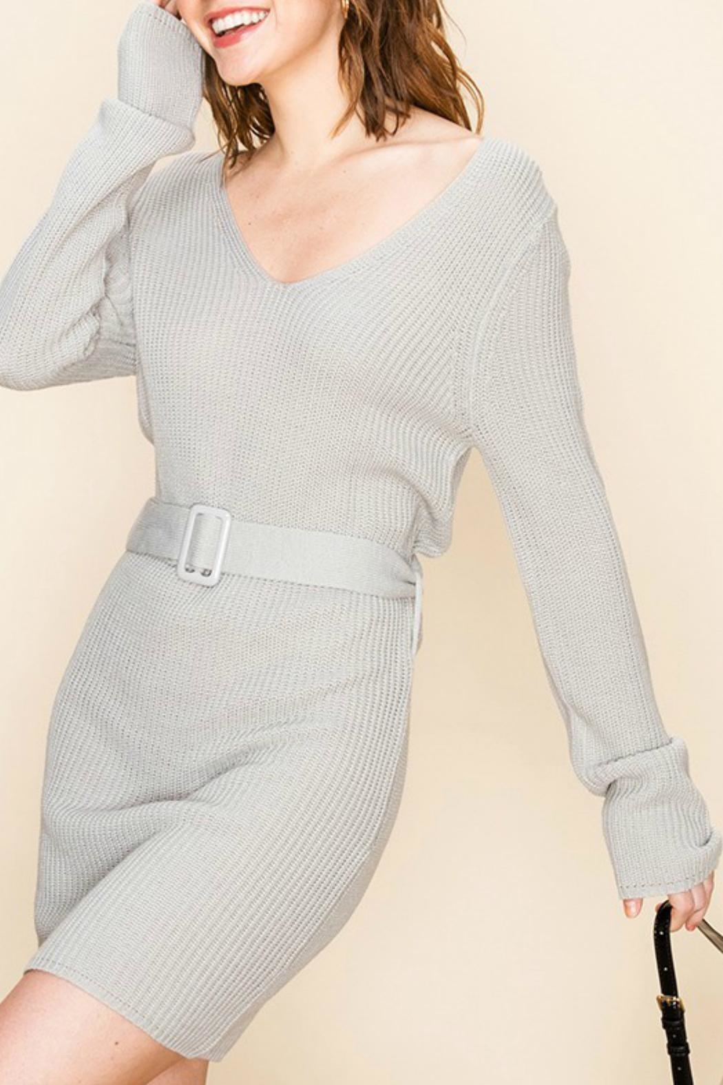 ALB Anchorage Sweater-Dress With Belt - Side Cropped Image