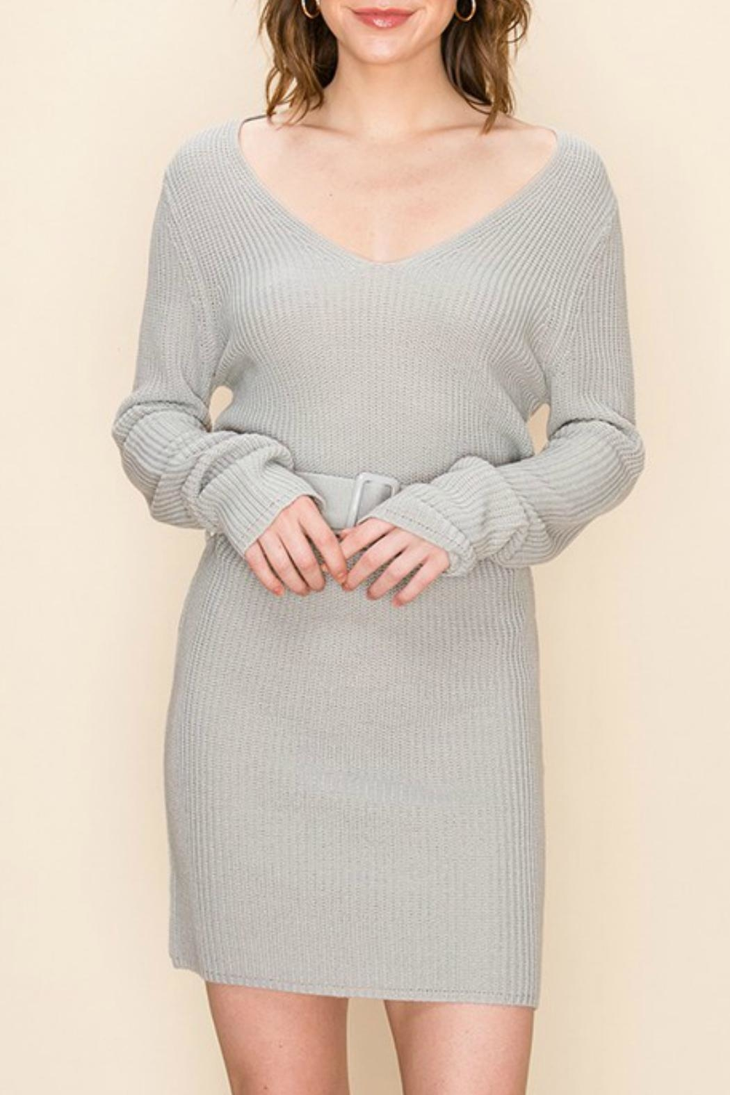 ALB Anchorage Sweater-Dress With Belt - Main Image