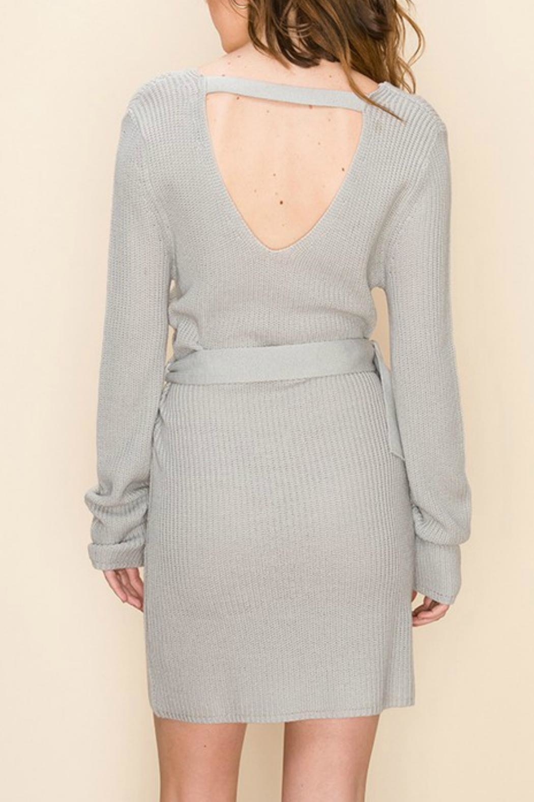 ALB Anchorage Sweater-Dress With Belt - Front Full Image