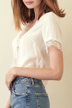 ALB Anchorage Tie-Front Lace Top - Alternate List Image