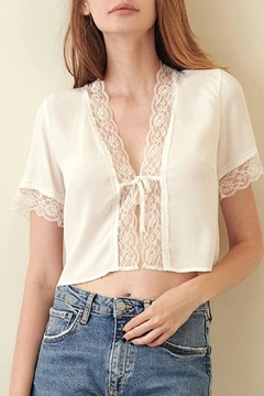 ALB Anchorage Tie-Front Lace Top - Product List Image