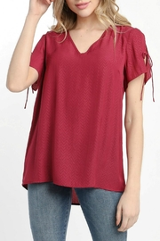 ALB Anchorage Tulip Pleat Top - Front cropped