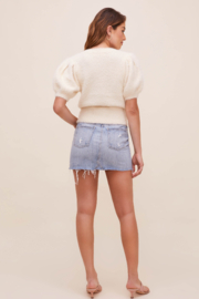 ASTR the Label Alba Puff Sleeve Cardigan - Back cropped