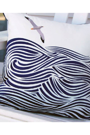 RIGHT SIDE DESIGN Albatross and Waves Indoor/Outdoor Pillow - Front full body