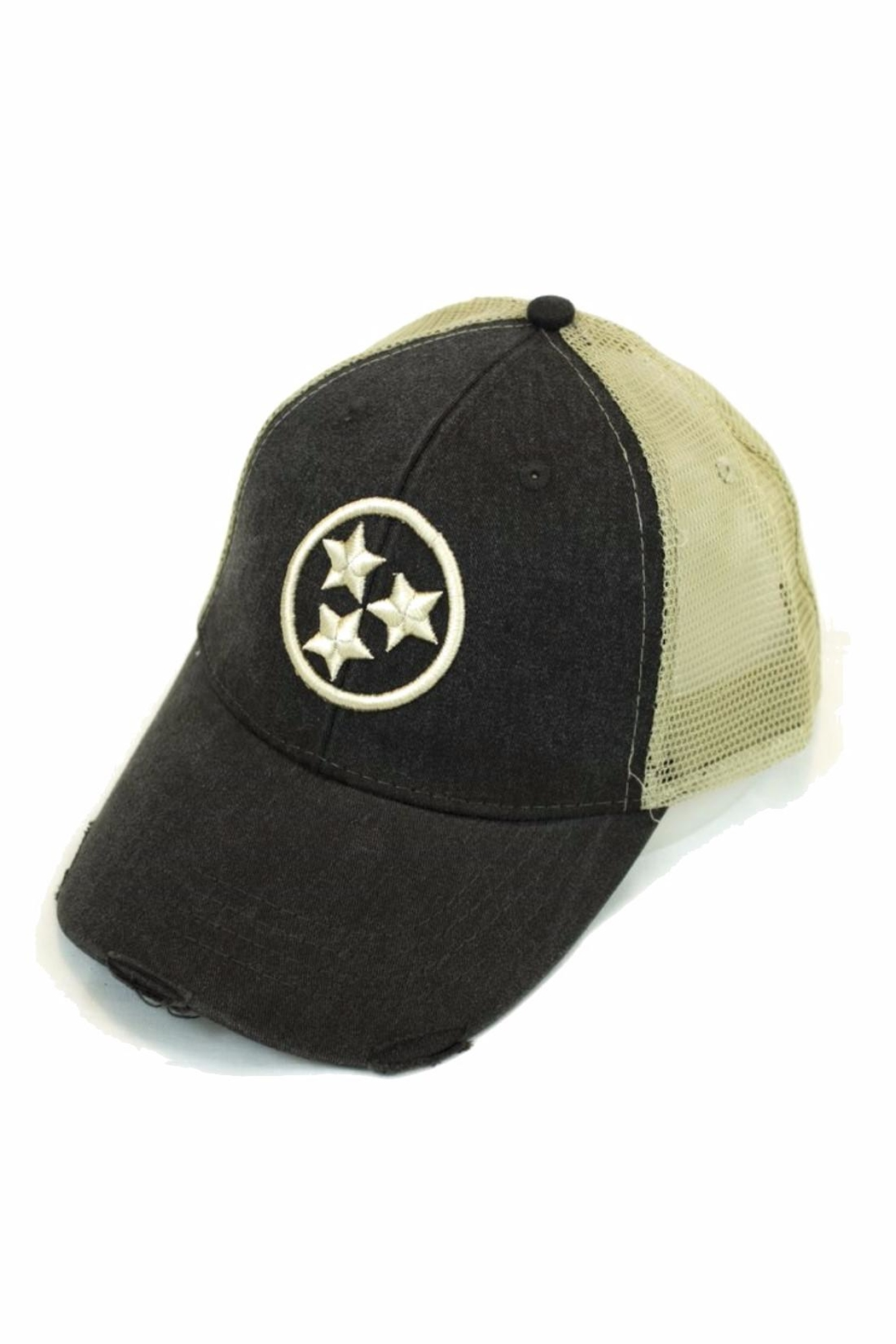 Albers Design Tristar Trucker Hat - Front Cropped Image