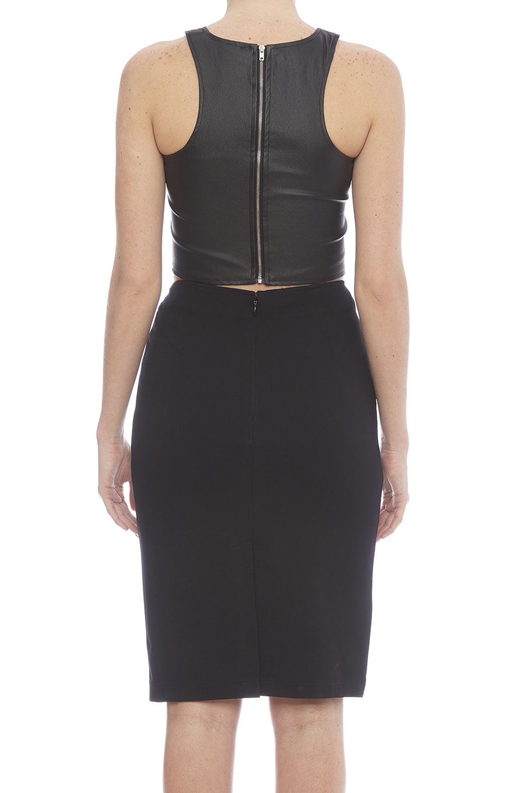 Alberto Makali Faux Leather Pencil Skirt - Back Cropped Image
