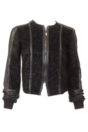 PinkOrchidFashion Alberto Makali Faux Sheered Fur Jacket - Product Mini Image