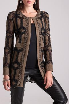 Alberto Makali Crochet Faux Suede Coat - Product List Image