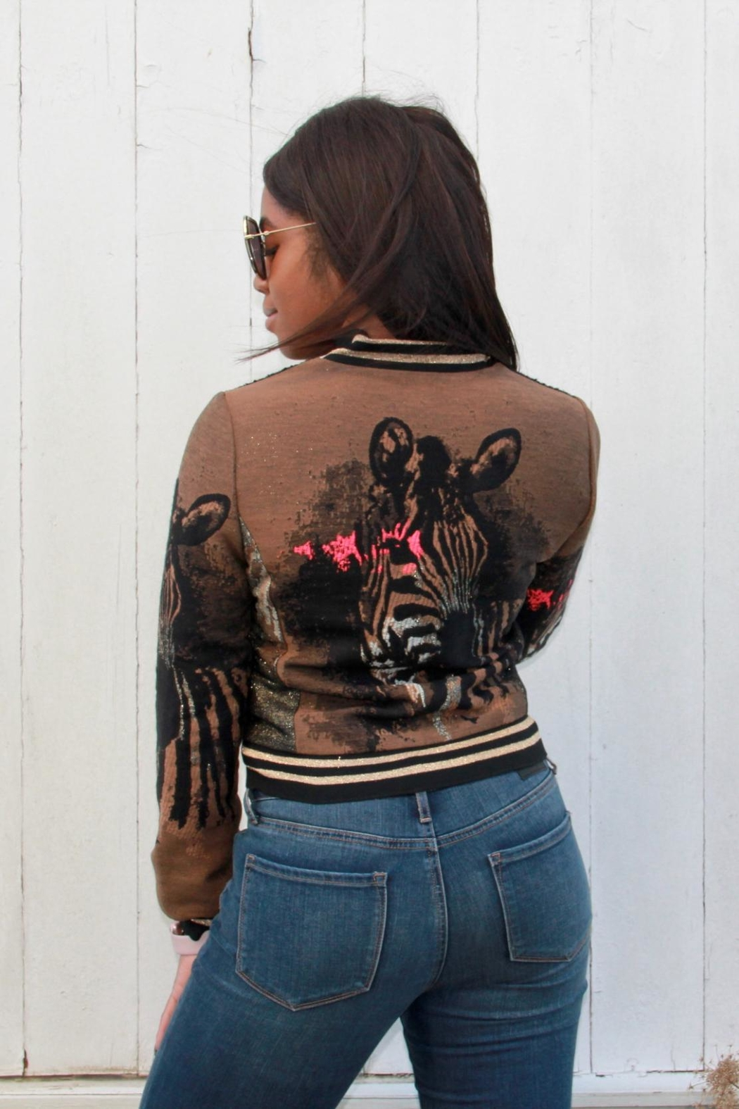 Alberto Makali Embroidered Bomber Jacket - Front Cropped Image