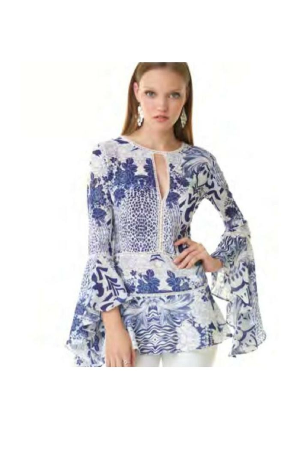 Alberto Makali Floral Printed Tunic - Front Cropped Image