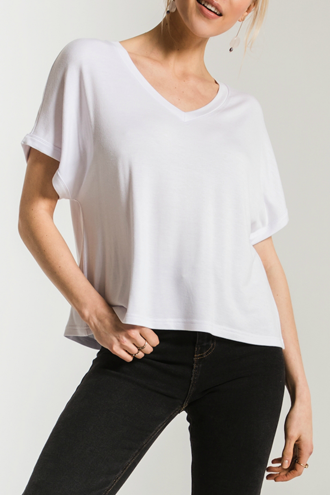 z supply Alda Dolman Tee - Front Cropped Image