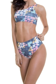 Maylana Swimwear Alden Asymmetricdiamonds Top - Product Mini Image