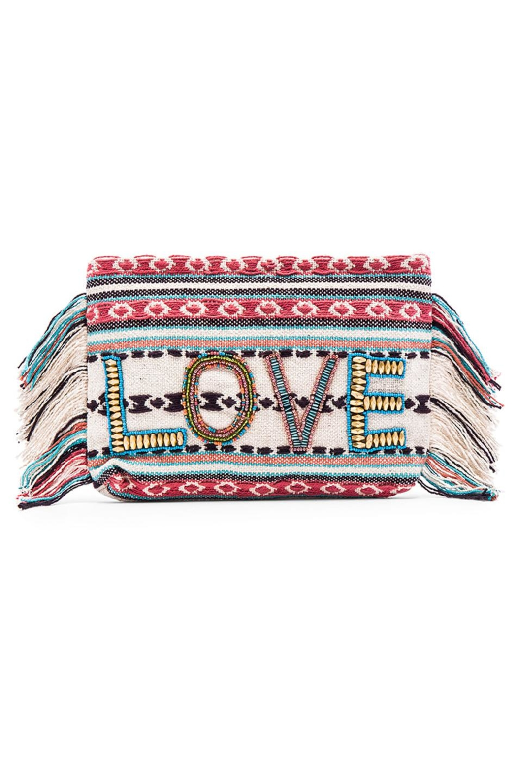 Ale by Alessandra Fringe Love Clutch - Main Image
